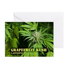 Grapefruit Kush (with na Greeting Cards (Pk of 20)