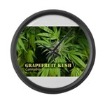 Grapefruit Kush (with name) Large Wall Clock