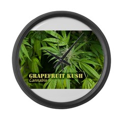 Grapefruit Kush (with name) Large Wall Clock
