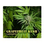 Grapefruit Kush (with name) Throw Blanket