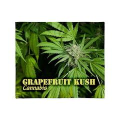 Grapefruit Kush (with name) Throw Blanket