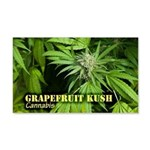 Grapefruit Kush (with name) 20x12 Wall Decal