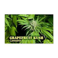 Grapefruit Kush (with name) Wall Decal