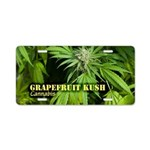 Grapefruit Kush (with name) Aluminum License Plate