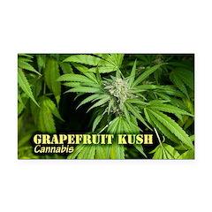 Grapefruit Kush (with name) Rectangle Car Magnet