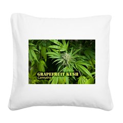 Grapefruit Kush (with name) Square Canvas Pillow