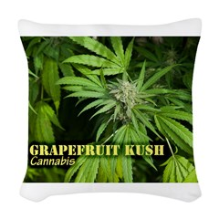 Grapefruit Kush (with name) Woven Throw Pillow