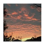 Apricot Sunrise Seaside Tile Coaster