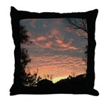 Apricot Sunrise Seaside Throw Pillow