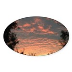 Apricot Sunrise Seaside Sticker (Oval)