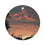 Apricot Sunrise Seaside Round Ornament