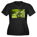 Harlequin (w Women's Plus Size V-Neck Dark T-Shirt