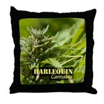 Harlequin (with name) Throw Pillow