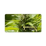 Harlequin (with name) Aluminum License Plate