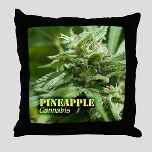Pineapple (with name) Throw Pillow