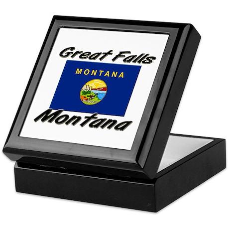 Great Falls Montana Keepsake Box