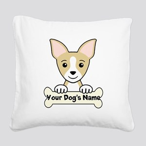 Personalized Chihuahua Square Canvas Pillow