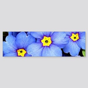 Blue Wildflowers Bumper Sticker
