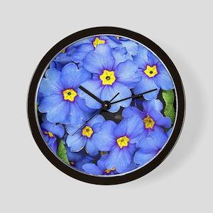 Blue Wildflowers Wall Clock