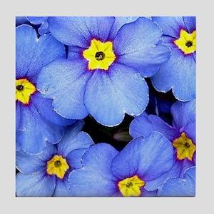 Blue Wildflowers Tile Coaster