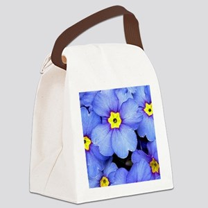 Blue Wildflowers Canvas Lunch Bag