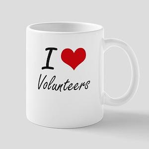 I love Volunteers Mugs