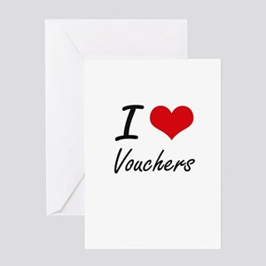 I love Vouchers Greeting Cards