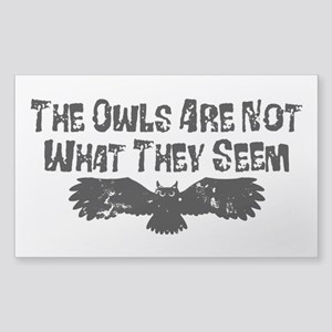 Owls Not What They Seem Sticker