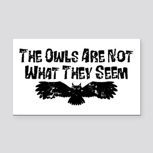 Owls Not What They Seem Rectangle Car Magnet