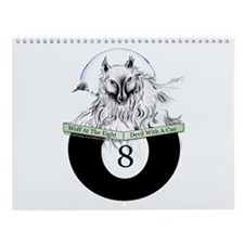 8 Ball Billiard Wolf Wall Calendar