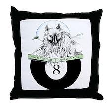 8 Ball Billiard Wolf Throw Pillow