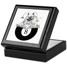 8 Ball Billiard Wolf Keepsake Box