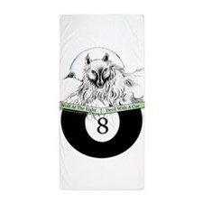 8 Ball Billiard Wolf Beach Towel