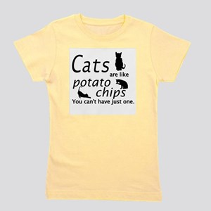 CATS ARE LIKE POTATO CHIPS... Girl's Tee