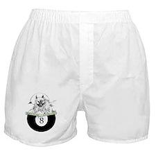 8 Ball Billiard Wolf Boxer Shorts