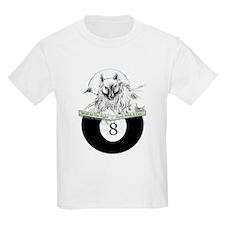 8 Ball Billiard Wolf Kids Light T-Shirt