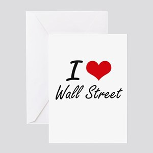 Occupy wall street greeting cards cafepress i love wall street greeting cards m4hsunfo