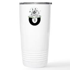 8 Ball Billiard Wolf Stainless Steel Travel Mug