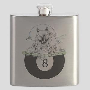 8 Ball Billiard Wolf Flask