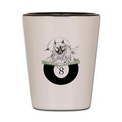 8 Ball Billiard Wolf Shot Glass