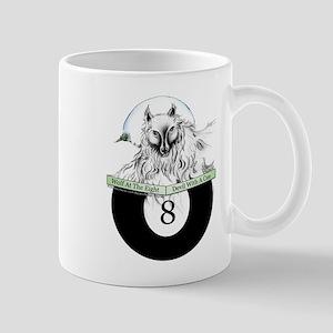 8 Ball Billiard Wolf Mug