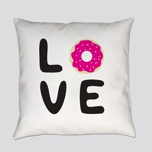 Love donuts Everyday Pillow