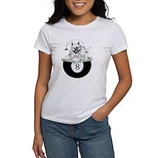 8 Ball Billiard Wolf Women's T-Shirt