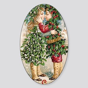 Vintage Christmas Image 3 Sticker (Oval)