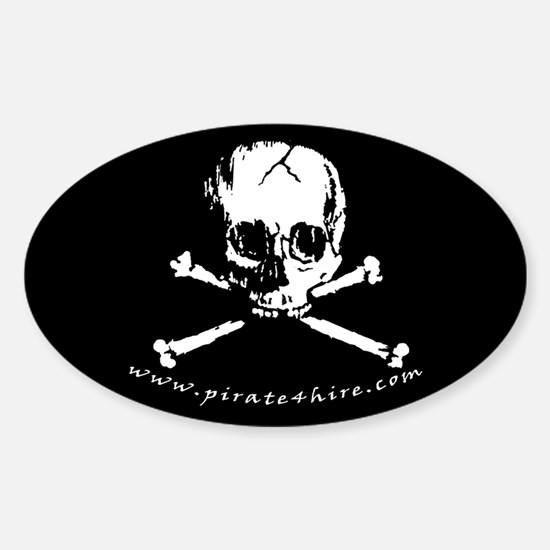 Pirate Skull Sticker (Oval)