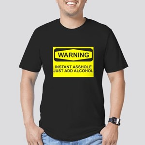 Warning instant asshol Men's Fitted T-Shirt (dark)