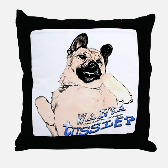 Funny Tummy Tickle Dog Throw Pillow