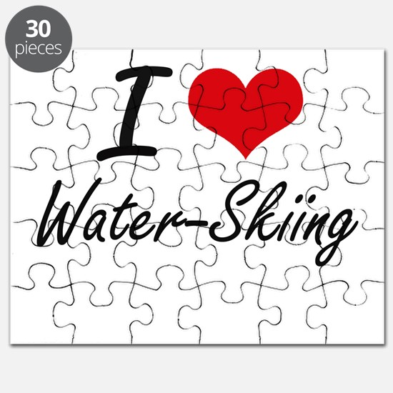 I love Water-Skiing Puzzle