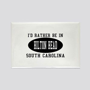 I'd Rather Be in Hilton head, Rectangle Magnet