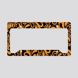 Black And Orange License Plate Holder
